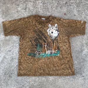 Other - Vintage Wolves in Woods Souvenir T-Shirt